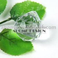 40pcs 27 x 30 mm Acrylic Ball Facet Pendant Acrylic Beads