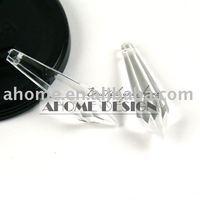 125pcs 14 x 36 mm Transparent Acrylic Icicle Pendant Clear Pendant