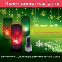 ^ v ^ Freeshipping_48pcs/lot Christmas candle gift,Halloween LED Candle light,Voice control Candle,halloween decoration