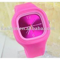 Free Shipping 50 Pcs/lot 2011 Fashion Jelly Silicon Watch Wholesale