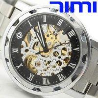 Наручные часы 2010 Blue Glass Dial Men Sport CHRO Automatic Black Watchship