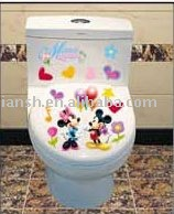 Fashion Style Combine Toilet Sticker, Delicate Design Decal, , Mickey Mouse decorative sticker200 pcs a Lot,Free Shipping!