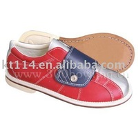 hot sale velcro  genuine leather house bowling shoes