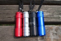 free shipping 20pc High-brightness white 9 LED Aluminum Flashlight (4-color optional)