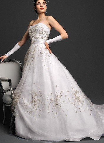 SA051 Free shipping favorable price sleeveless beading weeding dresses(China (Mainland))