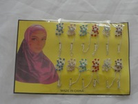 jm389 free shipping on beautiful fashion islamic scarf pins