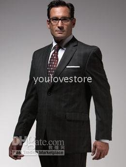 Mens Suit , Accept Custom Men Suit, Black Plain Men Suit,Brand Men Suit, One Button Suit,Side Vent  276