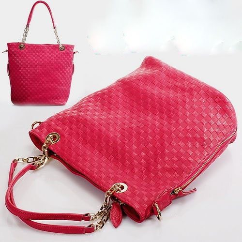 BZ1001004 , free shipping designer new arrival popular red color leather upper ladies shoulder bags(China (Mainland))