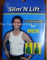 Free Shipping Slim 'n lift Slim and lift Slimming shirt for men 100pcs/lot