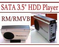 "Wholesale RM RMVB SATA 3.5"" HDD Player OTG SD - YPbPr - DIVX DVD - Fan - 6 pcs per lot"