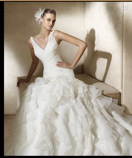 Free shipping EU192 Brides Bridesmaid Evening dress Strapless A-Line White Organza High Quality Wedding Gowns(China (Mainland))
