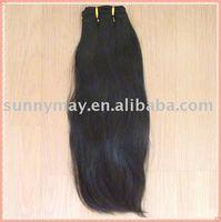 Malaysian virgin hair natural color natural straight weft hair