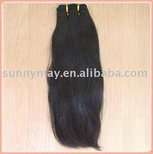 Malaysian virgin hair natural color natural straight weft hair(China (Mainland))