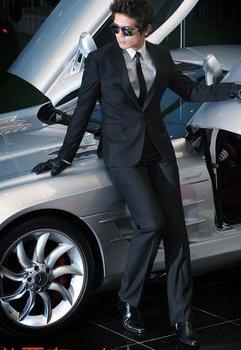 free shipping BRAND NEW  men's A clasp suit black coat + suit pants clothing size:XS S M L XL XXL