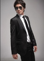 free shipping BRAND NEW  men's  suit black coat + suit pants clothing size: S M L XL XXL
