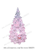 """2010 New Products Free Shipping  60pcs/lot  5"""" Crystal Color-changing Flash X'mas Tree  Nightlight  Lamp XMST001"""
