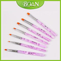 7 pcs Nail Art Brush Kit Round for Uv Gel Brush Pen Set