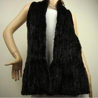 Free shipping/wholesale/Retail black Fashion style 100%mink Fur scarf