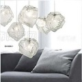 Free Shipping Hot Selling 1 Light Shining style Crystal Ice  pendant lamp ,Fixture