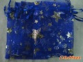 "500Pcs/lot Royalblue Star & Moon Organza Jewellry Bags 3.5x5""+ Gift&Free shipping"