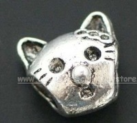 Tibetan Silver Jewelry Cat Beads Spacer Fit Charm Bracelet