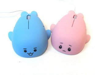 Freeshipping Newest/Lovely!!+Cute Cartoon Dorphen Mouse USB Optical Wheel Mouse/ Mice Christmas Gift(China (Mainland))
