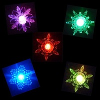 10pcs/lot freeshipping Battery Operated christmas light, Christmas Gift 10cm snowflake , Christmas decoration Slow RGB !