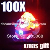 New A1 100 X Christmas Xmas LED Flashing Light Santa Brooch,Christmas Gift & Christmas Xmas Decoration