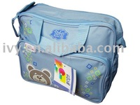 Free shipping 1pc retail bear head baby diaper bag/Nappy bag/Mummy bag/chaning bag/2colors available