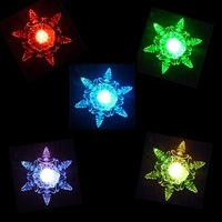 100pcs/lot Battery Operated christmas light, Christmas Gift 10cm snowflake , Christmas decoration Slow RGB