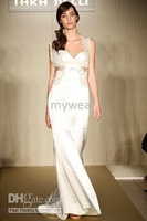Wholesale - Wedding dress/gown elegant custom-made satin and lace ivory