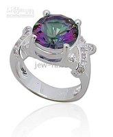 gemstone 925 sterling silver ring, mystic topaz