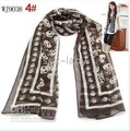 Silk Scarves Lady's Scarves Scarf chiffon 104 New Women's Skull