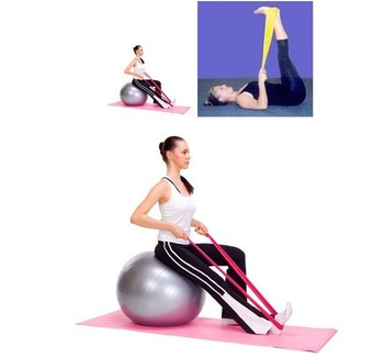 free shipping Pilates Yoga Resistance Exercise Bands 20pcs