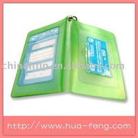 pvc card holder with printed logo on the front and back side with inner pocket