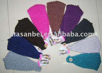 Handmade Knit Headwrap Headband Chunky Ski Solid winter