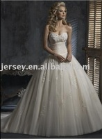 W2947 strapless appliqued wedding dresses gowns Customize free shipping