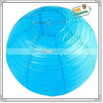 US Seller!Free Shipping,12 Inches Sky Blue Paper Lantern,10Pcs/Lot-J02729
