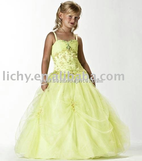 Top Custom Made Flower Girl Dress , Flower Girl Apparel For Wedding , Kid Dress , Accept lya8249(China (Mainland))