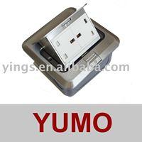 Floor Socket(Ground socket) Pop up type 13A 2way UK type socket HGD-1FZY zinc alloy free shipping
