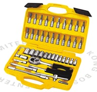 "free shipping best price for 46pc 1/4"" DR.socket wrench set,BOSI BRAND"