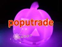 Wholesale Halloween Colorful LED light Pumpkin 50pcs/lot