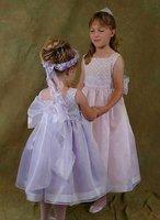 Angel flowergirl dress 4-8yd wholesale/custumed
