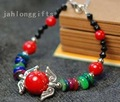Wholesal Tibet Silver Angel Bracelet Beaded Coral Shell Decor Womens Jewelry 60pcs/lot Mixed Lot Free Shipping