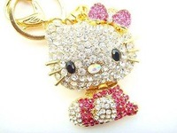 wholesale keychain/2010 fashion KITTY cat key Chain free shipping  Wholesale 20pc/lot no 5