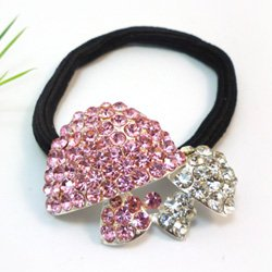 Alloy headband/headwear ornament\ mushroom alloy elastic hair ponytail holder 10pcs/lot free shipping(China (Mainland))