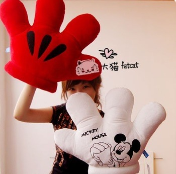EMS Free shipping /2pcs/lot/53*52cm Anne Doll Plush toy animals,Lovely Mickey Mouse, double gloves,Ultra soft short plush
