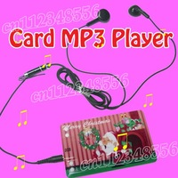 10pcs/lot freeshipping 2GB Credit Card shape MP3 player Can accommodate 500 different songs pretty style with many colors