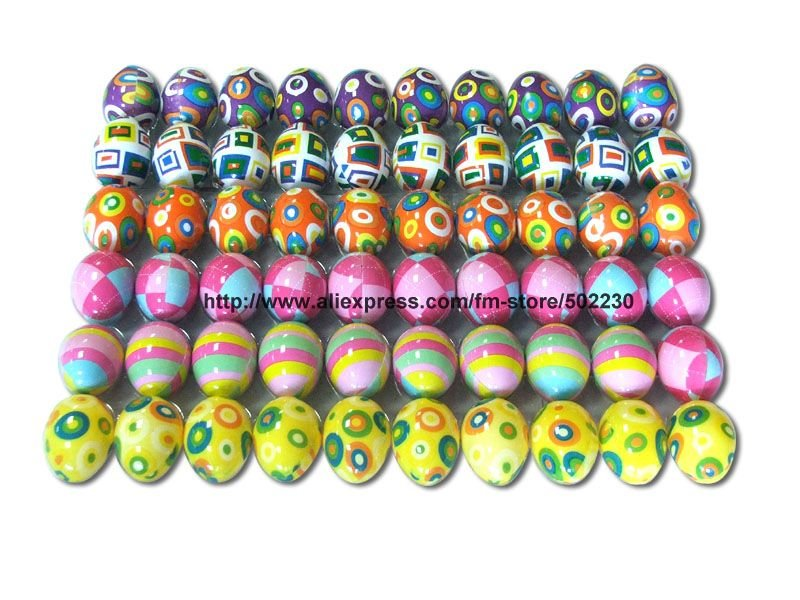 wholesale & Free Shipping easter eggs, plastic easter eggs, plastic easter eggs with hand drawing(China (Mainland))