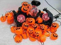 50pcs/lot Free Shipping Promotion sale Halloween Pumpkin decorations Bucket Jack-o'-lantern Lantern Led light